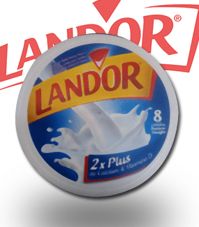 LANDOR 8 Portion Triangle 2xPlus de Calcium et Vitamine D. Matiere grasse Animale 600
