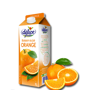 Jus Délice de fruits Boisson au jus Orange 1l
